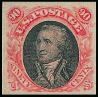 1869 Pictorial Issue - Washington 90-cent essay