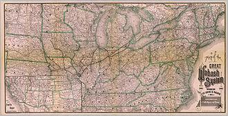 Wabash Railroad - 1886 system map
