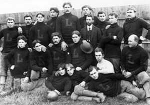 Dave Berry (American football) - Dave Berry (wearing a suit and tie) with members of the 1897 Latrobe football team.