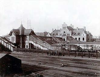 Berlin-Gesundbrunnen station - Rebuilt Gesundbrunnen station in 1898