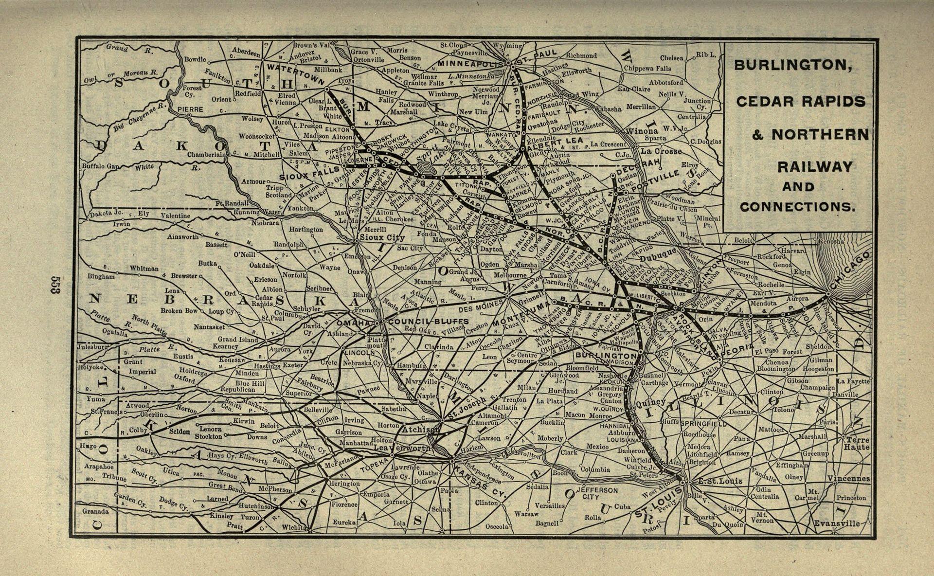 BCR&N Map, 1901