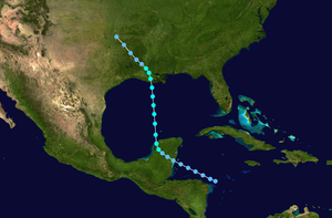 1931 Atlantic hurricane season - Image: 1931 Atlantic tropical storm 2 track