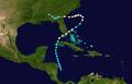 1947 Atlantic hurricane 8 track.png