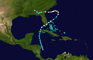 1947 Cape Sable hurricane - Image: 1947 Atlantic hurricane 8 track