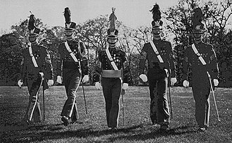 New York Military Academy - NYMA students in uniform, 1964. Includes future President Donald Trump (second from left).