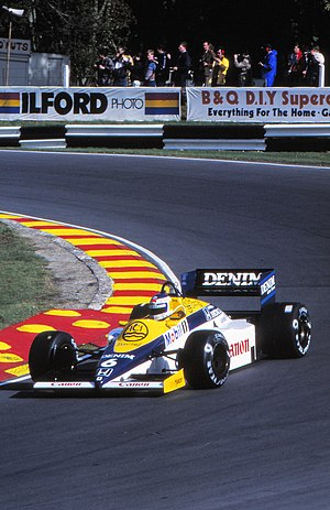 1985 European Grand Prix - Mansell's team-mate Keke Rosberg completed the podium.