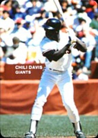 Chili Davis - Davis batting for the Giants in 1985