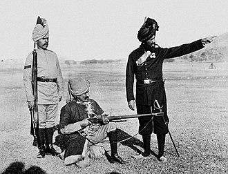 55th Coke's Rifles (Frontier Force) - Image: 1st Punjab Rifles 1889