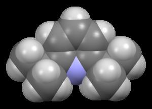 2,6-Di-tert-butylpyridine - Image: 2,6 di tert butylpyridine from xtal 2004 Mercury 3D sf