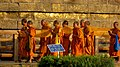 2. Religious Ceremony taking place at Dhamek Stupa, Sarnath.jpg