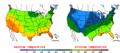 2002-10-10 Color Max-min Temperature Map NOAA.png