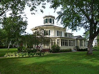 Hudson, Wisconsin - The Octagon House Museum, listed on the National Register of Historic Places, was built in 1855.