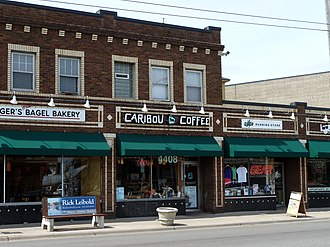 """Caribou Coffee - The original location, """"44th and France"""" or Store 101, is located in Edina, Minnesota."""
