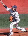 20110319 Ryoma Nogami, pitcher of the Saitama Seibu Lions, at Yokosuka Stadium.JPG