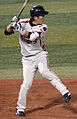 20111015 Yasusi Iihara, outfielder of the Tokyo Yakult Swallows, at Yokohama Stadium.JPG