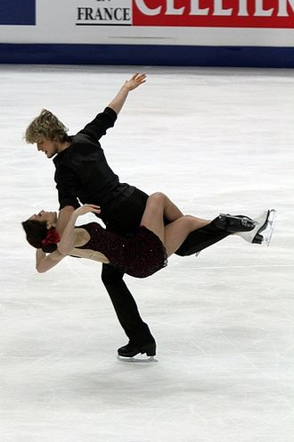 Ice dancing - 2011 World champion ice dancers Meryl Davis / Charlie White perform a dance lift. Dance lifts differ in many ways from pairs lifts.
