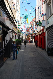 Dame Lane Road in Dublin, Ireland