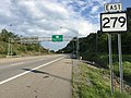 2017-07-23 18 33 28 View east along West Virginia State Route 279 at Interstate 79 (Jennings Randolph Highway) in Bridgeport, Harrison County, West Virginia.jpg