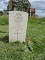2018-06-13 CWGC gravestone, H.J. Dean, Royal Engineers, Parish church of All Saints, Mundesley.JPG