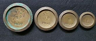 Tola (unit) - A set of tolas