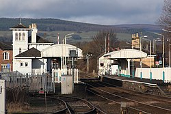 2018 at Gobowen station - from the south.JPG