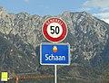 2020-03-17 Schaan Liechtenstein Strassenschild West.jpg