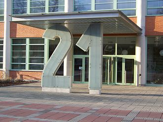 21 (number) - Detail of the building entrance