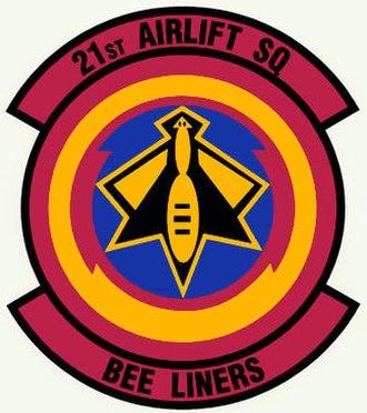 21st Airlift Squadron - Image: 21st Airlift Squadron Emblem