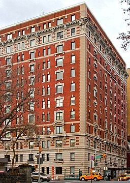 257 Central Park West Co-op apartment building in Manhattan, New York