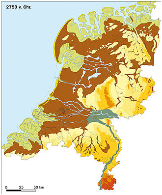 History of the Netherlands - The Netherlands in 2750 BC
