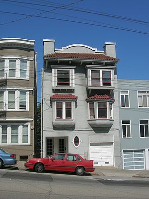 Hell's Angels: The Strange and Terrible Saga of the Outlaw Motorcycle Gangs - Thompson's residence during the Hell's Angels period, 318 Parnassus Ave., San Francisco.