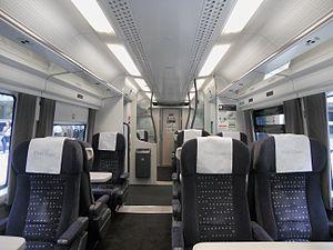 British Rail Class 379 - The interior of a First Class cabin aboard a Class 379.