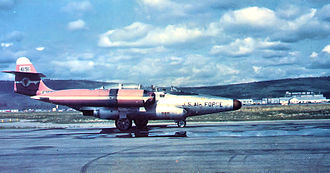 433d Weapons Squadron - 433d FIS F-89D-75-NO Scorpion 54-191 about 1956 at Ladd AFB, Alaska
