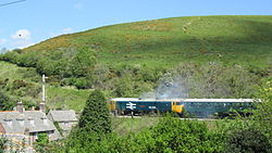 50026 at Corfe Castle (7225332684).jpg