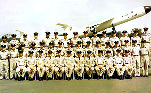 488th Tactical Missile Wing - Graduation photo of 17th Tactical Missile Squadron with TM-61 Matador Missile