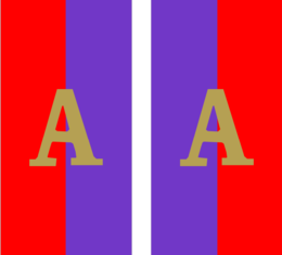 58th Battalion pair shoulder patches with ANZAC A Badge.png