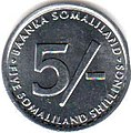 5 Somaliland Shilling Coins Obverse 2002.jpg
