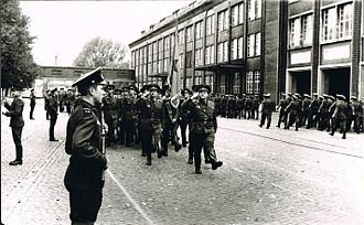 90th Guards Lvov Tank Division (1985–1997) - Troops of the 6th Guards Motor Rifle Division on parade in Bernau, 1985