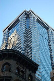 60 Wall Street Office skyscraper in Manhattan, New York