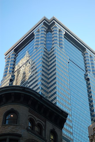 Crime in New York City - US headquarters of Deutsche Bank on Wall Street in 2010.