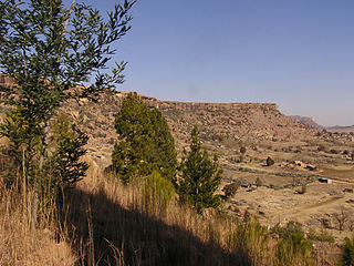 Thaba-Bosiu seen from its northern slopes