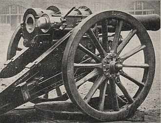 BL 6-inch 30 cwt howitzer - With breech open, circa. 1900