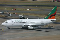 9J-JCN Boeing 737 Zambian Airways (7689772902).jpg