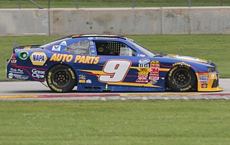 Chase Elliott - Elliott racing his Nationwide car at Road America in 2014