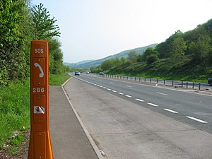 A449 road - The A449 on the outskirts of Newport.