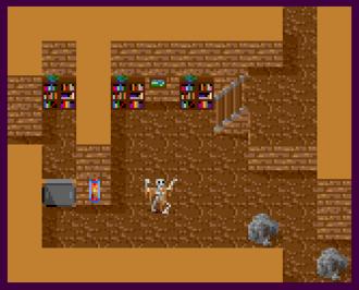 Adventure Construction Set - A room built with a custom tile set (Amiga version)