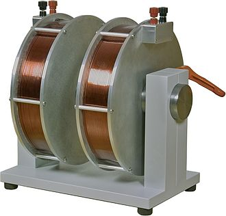 Electromagnet - Laboratory electromagnet. Produces 2 T field with 20 A current.