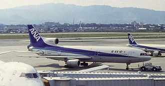 Lockheed bribery scandals - An All Nippon Airways L-1011 at Osaka International Airport in 1992