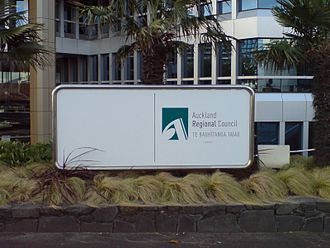 Auckland Regional Council - Auckland Regional Council sign and office