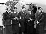 ATA personnel Lettice Curtis, Jenny Broad, Audrey Sale-Barker, Gabrielle Patterson, Pauline Gower. by Combat Engineering Board.jpg